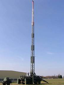 40m high Mobil EmComm & Contest Antenna Tower with Aux.Generator