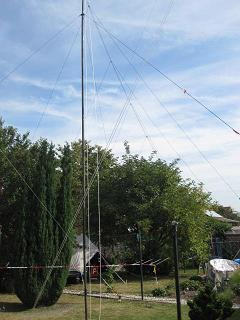 EmComm Center with Portable 13El.HF-Log-Periodic-Antenna