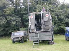 EmComm Iltis and Iveco with TacCom Shelter owner Uli DK9UMA and Rudolf DL1ZAV